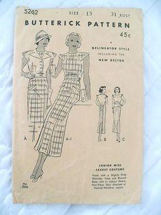 1930s Butterick 5262