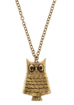 ModCloth: Get Wise Necklace $14.99