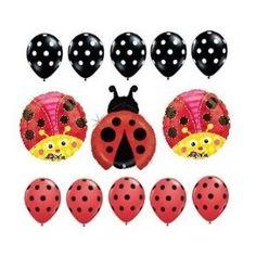 Amazon.com: Ladybug polka dots Birthday Party Supplies Balloon Decorations Set latex and foil: Toys & Games