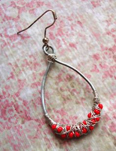 You can make this! Beaded Earring Tutorial