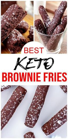 Check out these keto brownie fries! EASY keto recipe for the BEST brownie fries - fudgy brownie chocolate recipe. Low carb diet recipe for brownie sticks u will want to eat - simple & quick… Keto Desserts, Keto Dessert Easy, Keto Snacks, Dessert Recipes, Breakfast Recipes, Dinner Recipes, Summer Desserts, Keto Brownies, Homemade Brownies