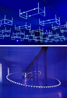 Light installations and sculptures by French artist Claude Lévêque