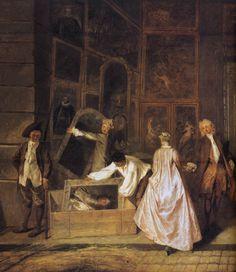 Jean Antoine Watteau - France - 1684/1721 - L'enseigne de Gersant .