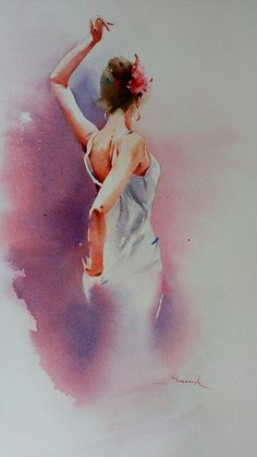 "Blanca Álvarez.art ""Y Olé"" Acuarela s/papel 53x30 cm"