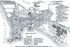 Plano de la Ciudad de Panamá para la exposición de 1915