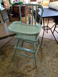 Vintage Jenny Lind Wooden High Chair by SheasShabby on Etsy, $169.00