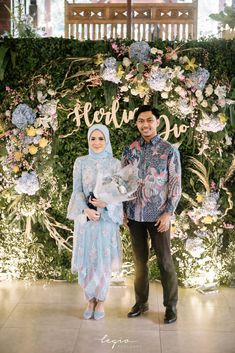 Rustic Intimate Engagement at Rumah Ranadi by Herlina and Imandio Kebaya Hijab, Kebaya Dress, Kebaya Muslim, Kebaya Modern Hijab, Dress Brukat, Hijab Dress Party, Batik Dress, Kebaya Wedding, Muslimah Wedding Dress