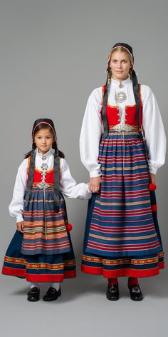 National Costumes (bunad) from Vestfold County, Norway Art Costume, Folk Costume, Costume Dress, Traditional Fashion, Traditional Dresses, Norwegian Clothing, Norwegian People, Costumes Around The World, Folk Clothing