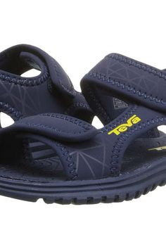 Teva Kids Tidepool (Toddler) (Navy/Yellow Print) Boys Shoes - Teva Kids, Tidepool (Toddler), 110190T-731, Footwear Open Casual Sandal, Casual Sandal, Open Footwear, Footwear, Shoes, Gift, - Street Fashion And Style Ideas