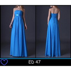 BEAUTIFUL BLUE CHIFFON EVENING DRESS! for R700.00 Chiffon Evening Dresses, Ball Dresses, Strapless Dress Formal, Prom Dresses, Formal Dresses, Blue, Beautiful, Fashion, Dresses For Formal