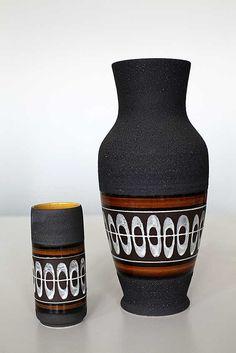 Lava glazed vases by Dümler & Breiden West German Pottery