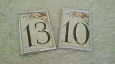 wedding table number boho chic table number  framed table number