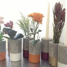 diy concrete candle holder - Google-haku