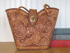 tooled leather purse - Google Search