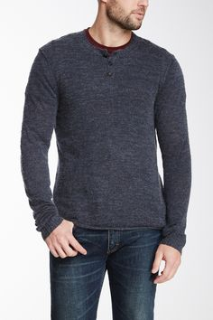 James Perse | Long Sleeve Henley Sweater | Nordstrom Rack
