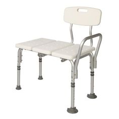 Transfer Bench Adjustable Height, Lightweight Transfer Bench with Back Non-slip Seat, White By Healthline Trading >>> More details @ http://www.amazon.com/gp/product/B00EOXFNTW/tag=homeimprtip08-20&rw=210716222253