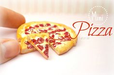 Mini Pepperoni Pizza Tutorial Miniature Food Jewelry Polymer Clay Handmade by Sweet Clay Creations