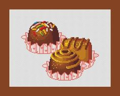 5031 - Yummy Chocolate Candy Counted Cross Stitch Pattern in PDF for Instant Download No shipping charges!! Download and Print your cross