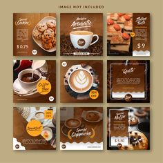 Find Feed Social Media Template Coffee Bar stock images in HD and millions of other royalty-free stock photos, illustrations and vectors in the Shutterstock collection. Web Banner Design, Web Design, Pizza Menu Design, Food Menu Design, Food Graphic Design, Food Poster Design, Social Media Template, Social Media Design, Feeds Instagram