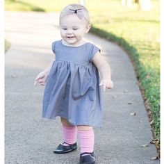 Baby girl, toddler fashion, spring dress