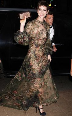 Anne Hathaway wearing Vintage Valentino. Absolute Perfection!