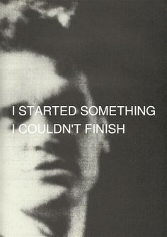 'I started something I simply couldnt finish' A shiver ran down my spine as the…