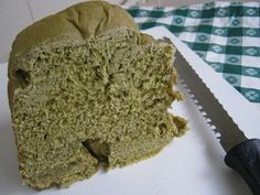 "Matcha Green Tea Bread Recipe (for the machine). ""Do you like green eggs and ham?"" ""I do not like them, Sam-I-am. I do not like green eggs and ham!"" ""So how about green bread instead? Flavored by matcha?"" is what I said!  from lifeofcolors.com"