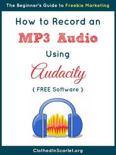 Would you like to offer your audience an MP3 download? I walk you through all the steps to record an MP3 audio using Audacity (a free software) here!