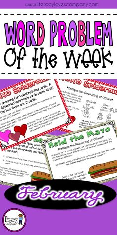 """Looking for a way to support your students understanding and application of MATHEMATICAL PRACTICES in just minutes a day? Welcome to """"Word Problem of the Week""""!"""