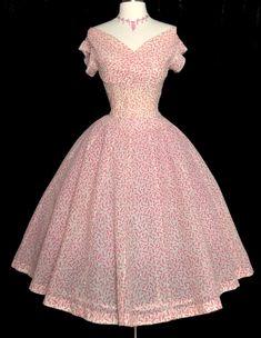Vintage 1950s Dress//50s Dress//Designer//Jonathan Logan//New Look//Full Skirt…