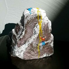 Rock climbing painted rocks
