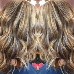Balayage for days this so beautiful mixes of blondes and browns so beautiful