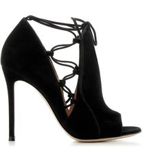 Gianvito Rossi Cut Out Booties (€454) ❤ liked on Polyvore featuring shoes, boots, ankle booties, heels, black leather boots, black cut out booties, black heeled booties, black leather ankle booties and beige booties