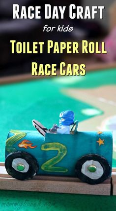 This Toilet Paper Roll Craft is super easy and fun to make! Take race day to the next level with race car crafts for kids! It is an easy and inexpensive project, plus it gives kids a good chance to work on fine motor skills by cutting, painting, and traci