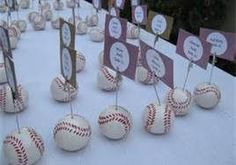 baseball wedding decor - Bing Images wedding place cards, sports wedding place cards #wedding #weddings