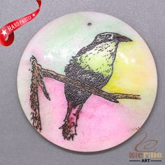 COLORING BIRD PENDANT FOR NECKLACE GEMSTONE JEWELRY ACCESSORYZL7000029 #ZL #Pendant