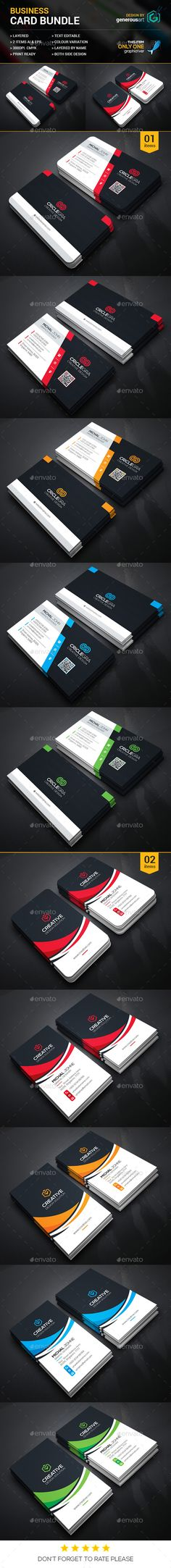 Business Card Bundle 2 in 1 Template PSD #design Download: http://graphicriver.net/item/business-card-bundle-2-in-1_vol42/13437075?ref=ksioks