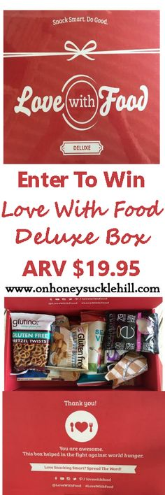 Love With Food Deluxe Box Review + Giveaway