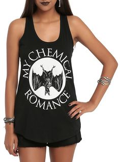 My Chemical Romance Bat Girls Tank Top, BLACK