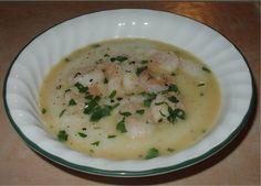 Shrimp and Grits with a Lemon Garlic Sauce! DebbieNet.com