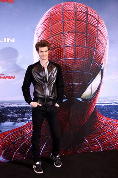Cute couple Emma Stone and Andrew Garfield at Spider-Man Berlin photo call