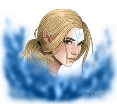 Aelin with the mark of Branon (The nameless mark)