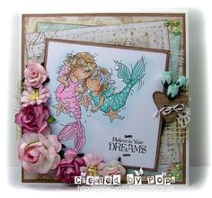 LOTV - Little Mermaid Friends - http://www.liliofthevalley.co.uk/acatalog/Stamp_-_Little_Mermaid_2.html