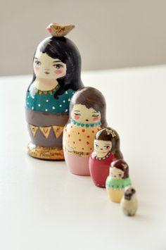 Muniecas nesting dolls  OOAK by munieca on Etsy, $65.00