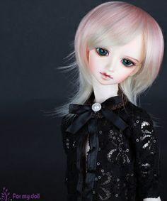 Nine9Style Cream pink-Cream blonde (9-10) BJD wig - heat resistant fiber $24.00