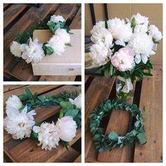 #slubnaglowie #wianeknagłowie #wianeknasesje #peonies #bridal #wreath #weddingtime #handmade #sesjaslubna #cudownydzień #bohowedding :)