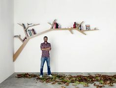 Tree Bookcase Wall Library Design for Home Tree Bookshelf, Tree Shelf, Bookcase Wall, Book Shelves, Bookshelf Plans, Bookshelf Ideas, Book Storage, Bedroom Bookcase, Wooden Bookcase