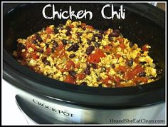 He and She Eat Clean: A Guide to Eating Clean... Married!: Clean Eat Recipe :: Chicken Chili