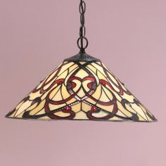 Ruban Medium Pendant Flowing ribbons of colour in an Art Nouveau style. H: 420-1390 W: 400 D: 400 Bulbs: 1 x 60 E27 Fittings: SU02 Shade: T024SH40