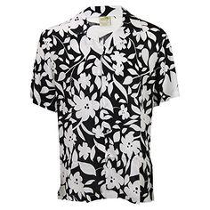 975a17e9 Men's Short Sleeve Rayon Hawaiian Tropical Patterns Shirts (Black, Small)  Urban Boundaries Island